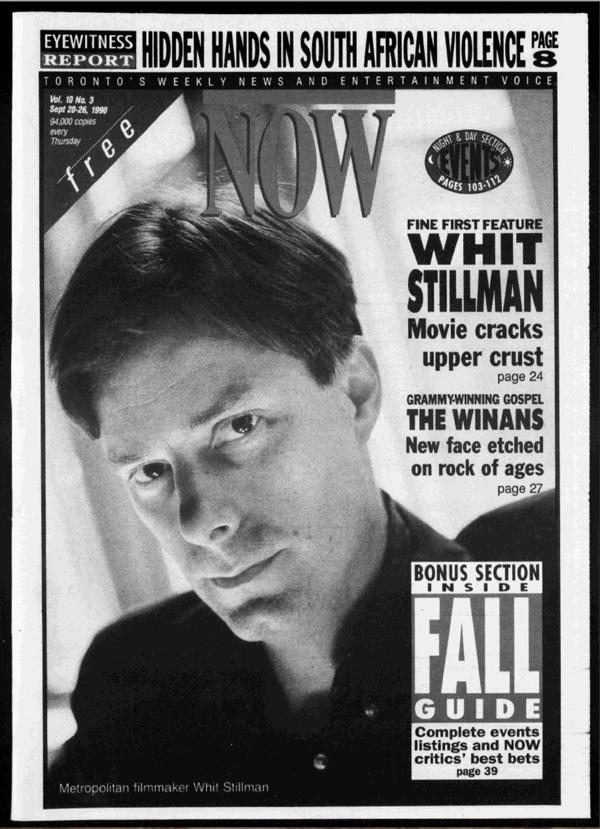 Whit Stillman Now Magazine Canada