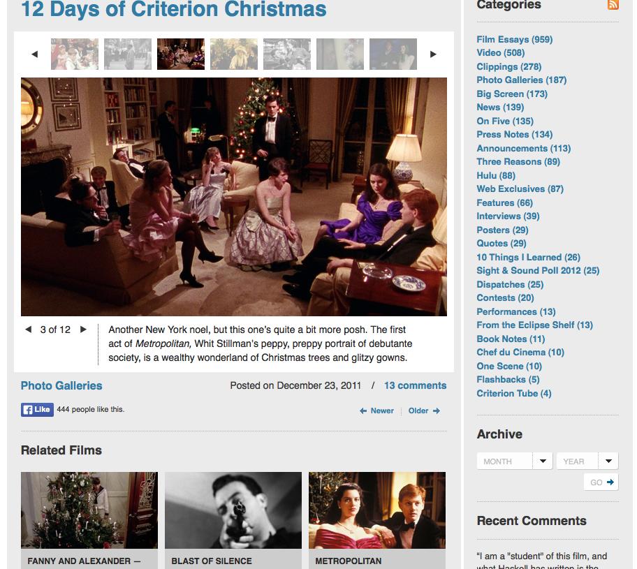 Criterion Christmas