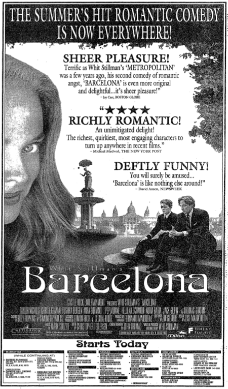 Ad from the first day showing in NYC