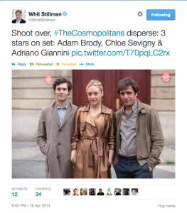 Photo of Adam Brody, Chloe Sevigny & Adriano Giannini Photo by: @WhitStillman