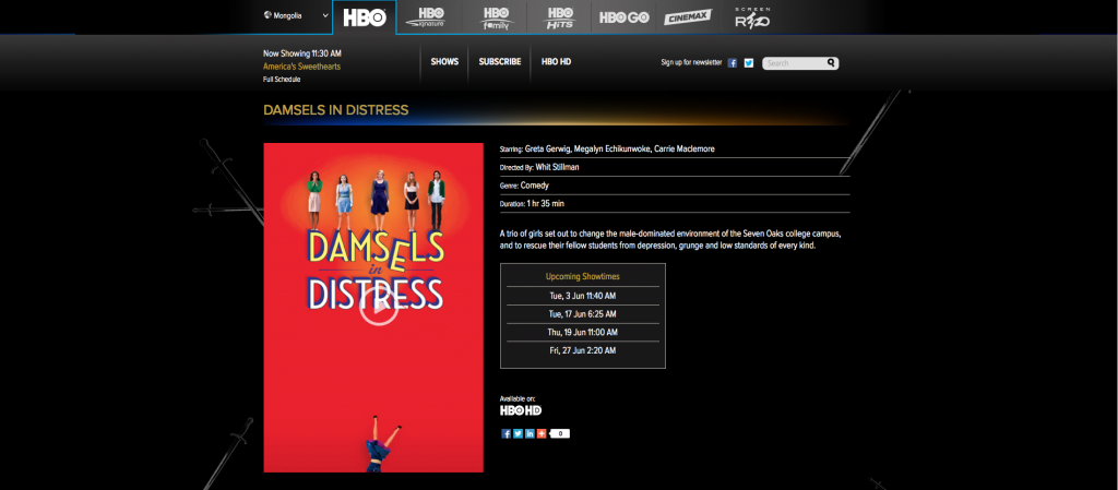 Whit Stillman's Damsels in Distress HBO Asia
