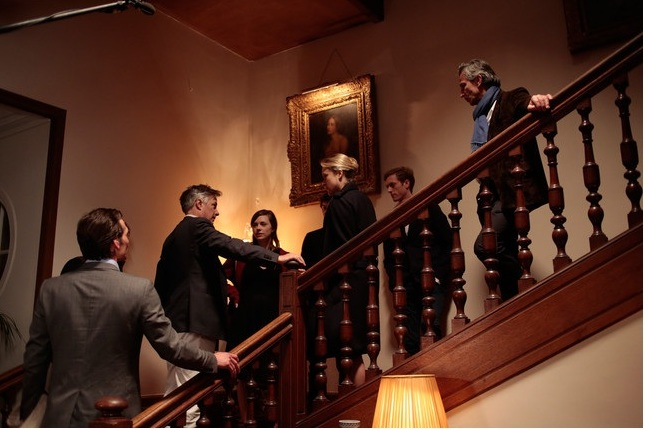irector Whit Stillman with Carrie MacLemore, Chloe Sevigny, Jordan Rountree and cast. COURTESY OF AMAZON STUDIOS